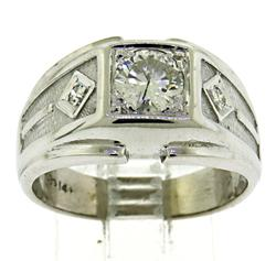 Gents White Gold Diamond Band Ring