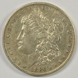 High end scarce key date 1886-S Morgan Silver Dollar