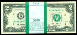 Gem CU Pack of 100 Series 2013 $2 Bills in Sequence (B)