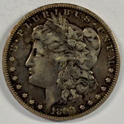 Very sharp 1892-S Morgan Silver Dollar. Key date