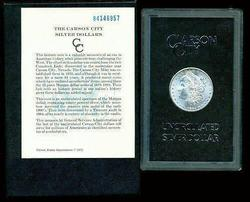 Very Choice BU 1884-CC Morgan Silver Dollar in GSA pack