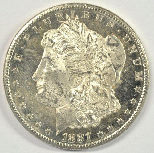 Flashy Cameo P-L BU 1881-S Morgan Silver Dollar