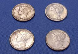 4 Choice  BU Mercury Dimes