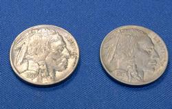 Sharp Near Unc 1917 and 1920 Buffalo Nickels