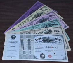 6 Diff. Internal Revenue Liquor Licenses 1873 to 1878