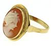 Lot of 18kt Cameo Earrings, Ring and Pendant
