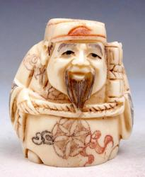 Hand Carved Bone Detailed Japan Netsuke Sculpture