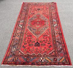 Charming 1950s Handmade Vintage Persian Asad-Abad