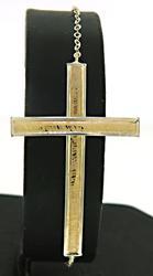 10kt 2-Tone Cross Bracelet