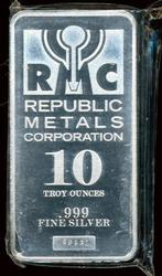 Great RMC Pure .999 Fine Silver 10 Troy Oz Bar. Plastic