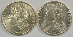 Choice BU 1899-O & 1901-O Morgan Silver Dollars
