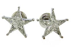 Beautiful Diamond Star Earrings