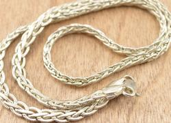Fancy Link Chain Necklace Silver