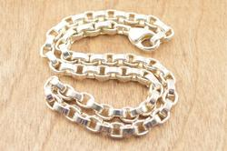Heavy Cable Chain Necklace Silver
