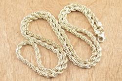 Rope Chain Necklace Silver