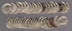 Roll of 40 Full Date Buffalo Nickels