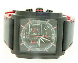 Citizen Eco Drive Chronograph Red Black Watch
