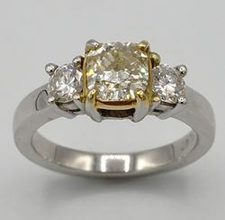 Radiant Light Fancy Diamond Ring in Platinum!