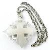 Vintage Large Sterling Crusader Cross and Chain
