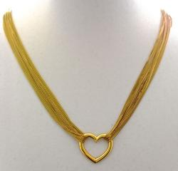 Elegant 18K Multi-Strand Necklace