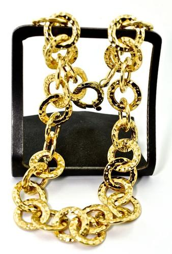 Fabulous 14K Hammered Links Necklace