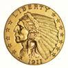1911-D $2.50 Indian Head Gold Quarter Eagle - Choice
