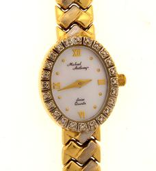 Ladies 14K Gold Michael Anthony Watch with Diamonds