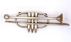 Large Trumpet Broach in Sterling