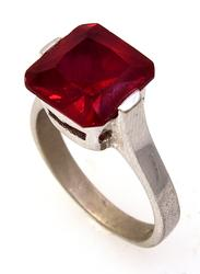 Ruby Ring in Sterling, Size 6