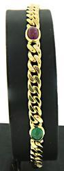 Stylish 18kt Multi-Gemstone Bracelet