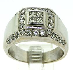 Stately 18kt Gent's Diamond Ring