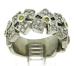 Unique 18kt Diamond Flower Ring