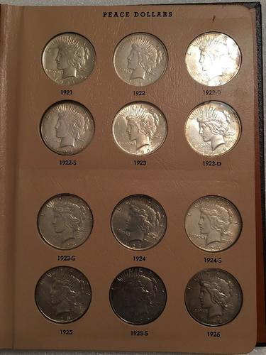 1921-1935 Peace Dollar Set (24) - IN Dansco Album