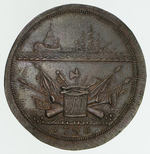 1795 Great Britain-Brighton Halfpenny Condor Token - Circulated