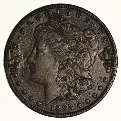 1893-S Morgan Silver Dollar - Circulated