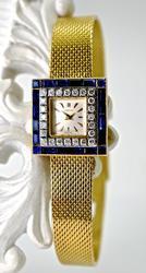 Impressive 18K Sapphire & Diamond Watch