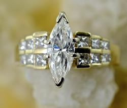 Stunning 1+ Carat Marquise Diamond Ring