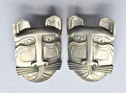 Fabulous, Relief Character 'Cat Man' Pierced Earrings