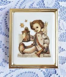 Treasured, German 'Hummel' Porcelain & Gold Plated Angel 'Pillbox'