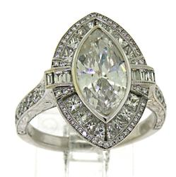 Spectacular Multi Diamond Marquise Ring in 18K