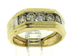 Gents Diamond Channel Set Band Ring