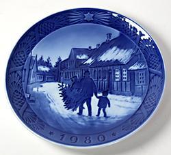 Royal Copenhagen 1980 Christmas Plate