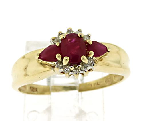 Ruby & Diamond Accent Ring