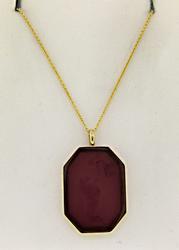 14kt Gold Intaglio Pendant