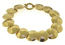 Modern 14kt Circle Link Bracelet