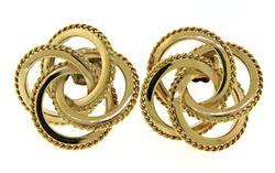 Polished 14kt Knot Earrings