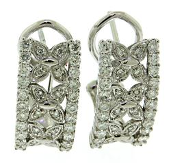 Floral 14kt Diamond Earrings