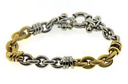 Fancy 18kt Link Bracelet