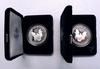 2001 and 2002 Proof Silver Eagles with boxs papers
