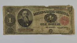 1891 $1.00 Treasury Note Large Size Horseblanket Note